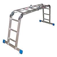 Шарнирная лестница Triton-tools 4х4 c полкой