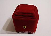 Подарочная коробочка из флока для колец