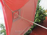 Зонт 2x2м торговый, с клапаном и серебряным напылением