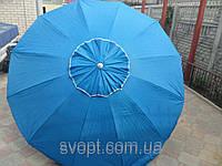 Зонт круглый (3м) с серебряным напылением и клапаном на 10 пластиковых спиц
