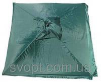 Торговый зонт 1,8х1,8 м с серебряным напылением и клапаном