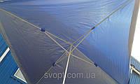 Торговый зонт 2х2 м с серебряным напылением и клапаном