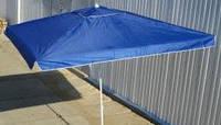 Торговый зонт 2x3м с серебряным напылением и клапаном