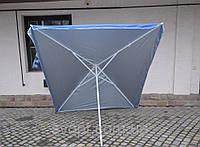 Торговый зонт 2x3м с серебряным напылением
