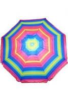 Пляжный зонт разноцветный, наклонный (д. 2,5м)