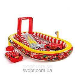 Детский надувной игровой центр «Тачки» (348х198х121см.) 57134 Intex