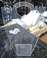 Подставка для серег и колье, пластиковая, прозрачная
