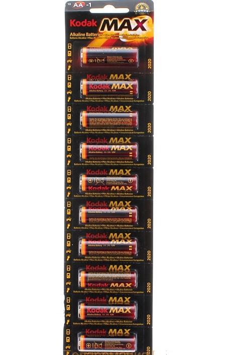 Батарейка Kodak max LR 06 10шт блістер