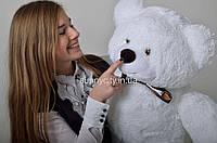 Мистер Медведь белый 110 см
