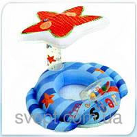 Надувной детский плотик «Звезда» с навесом (119х81 см) 56582 Intex