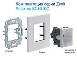 Розетка з з/к і шторками ABB Zenit Білий N2288 BL, фото 2