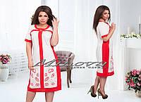 """Летнее женское платье из льна до 56 размера"""" Аниса"""""""