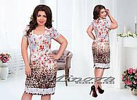 """Летнее женское платье из льна до 58 размера """"Нино"""""""