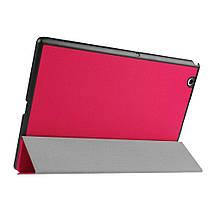 Чехол подставка Custer Texture для Sony Xperia Z4 Tablet LTE SGP771 малиновый, фото 2