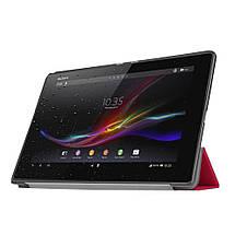 Чехол подставка Custer Texture для Sony Xperia Z4 Tablet LTE SGP771 малиновый, фото 3