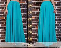 Женская летняя юбка в пол №121-3096/1 БАТАЛ