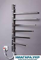 Полотенцесушитель электрический Вертикаль-6 поворотная ( белый и нержавейка на выбор ) Нержавейка