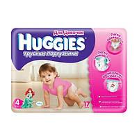 Трусики Huggies Little Walkers для девочек 4 (9-15 кг) 17 шт.