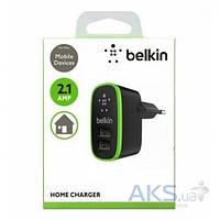 Зарядное устройство Belkin Home Charger 2 USB port 2.1 А Black (BK670/2Ports)