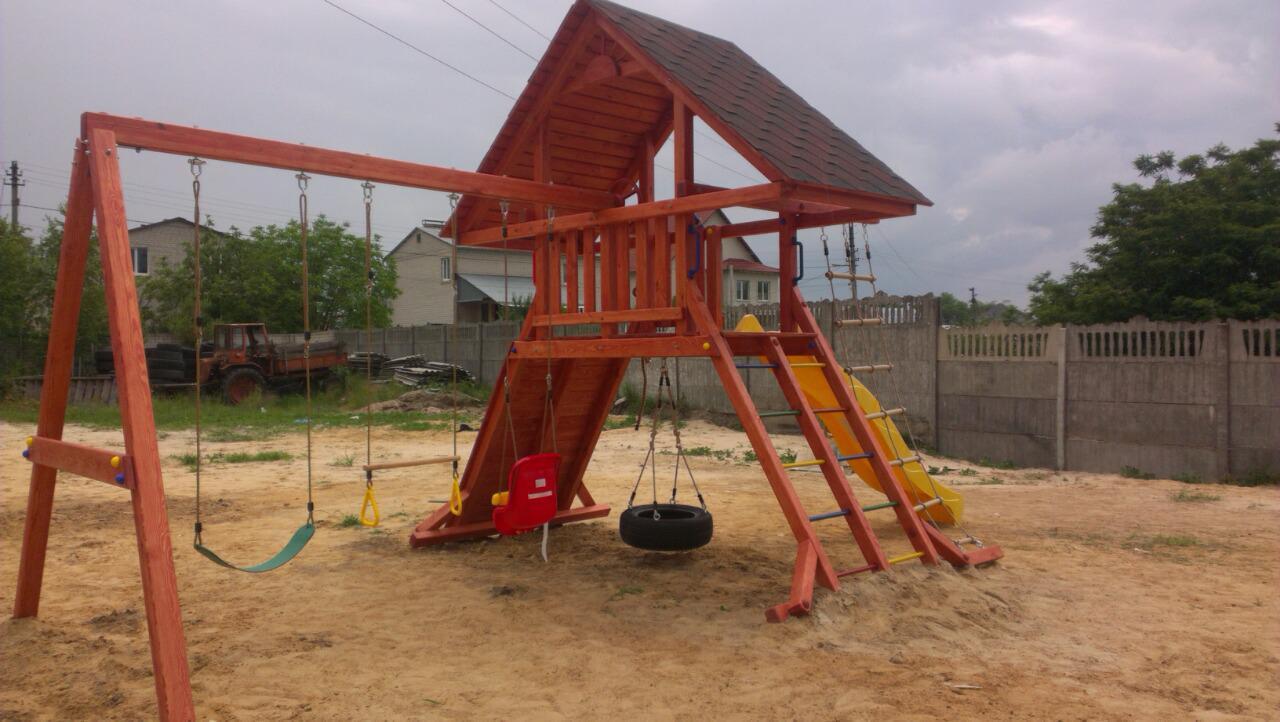 Детская площадка для дачи из дерева