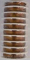 Проволка (коричневая) 10 бобин  в упаковке по 23м