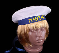 Фуражка моряка бескозырка, синяя лента