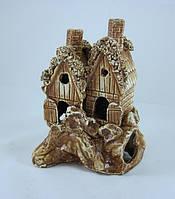 Кераміка для акваріума Будиночки на скелі, 13х17 див., фото 1