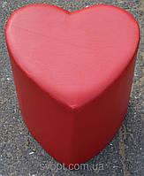 Пуфик сердце красный