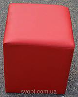 Пуфик квадрат красный