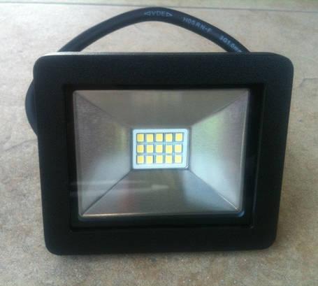 Светодиодный прожектор PREMIUM Slim SMD SL-4001 10W 6400K IP65 черный Код.56232, фото 2
