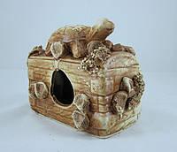 Кераміка для акваріума Скриня з черепахою, 14х12 див., фото 1