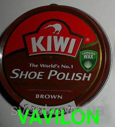 Крем для обуви Kiwi коричневый оригинал