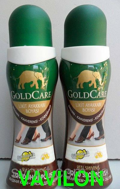 Крем-краска для обуви GoldCare коричневая оригинал