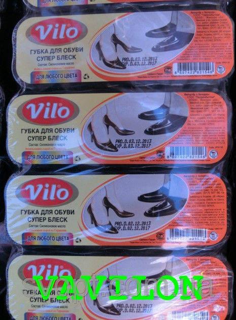 Губка для обуви Vilo нейтральный блеск