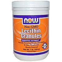 Now Foods, Лецитин в гранулах, Non-GMO (454 г)