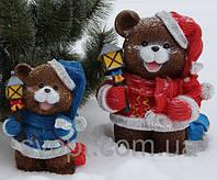 Медвежонок с фонариком малый (синий) 28*21*17