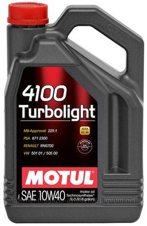 MOTUL 4100 TURBOLIGHT 10W40 (5л)
