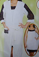 Комплект женский халат с ночной сорочкой №7212