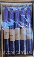 Свечи декоративные синие 15 см 10 штук