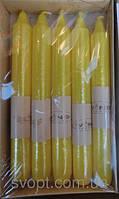 Свечи декоративные лимон 15 см 10 штук