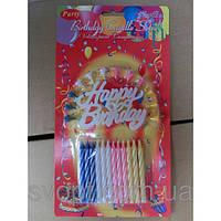 Свечи в торт с днем рождения + 12 спичек с ножками