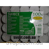 Свеча чайная плавающая таблетка 100 шт/упаковка