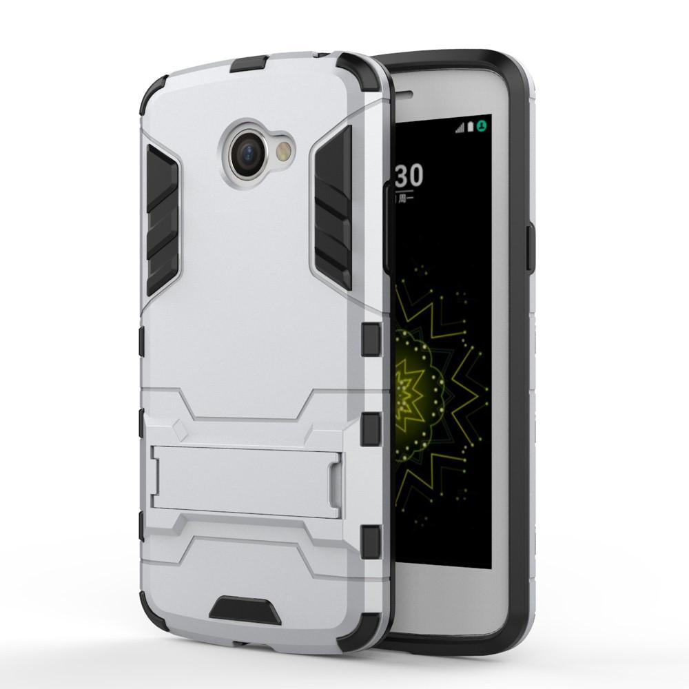 Чехол накладка силиконовый Armor Shield для LG K5 X220DS серебро