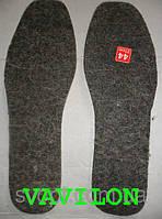 Стелька для обуви войлок натуральная шерсть серые
