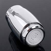 Водосберегающая LED насадка-аэратор на кран 3 цвета с датчиком температуры воды