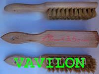 Щетка для обуви натуральный ворс 190x35 мм с ручкой