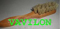 Щетка для обуви с натуральным ворсом ручка