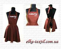 """Фартух """"Шоколадниця"""" з вишивкою логотипу, фото 4"""