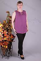 Блуза 2910-438/3 шифон больших размеров оптом