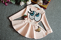 Модне плаття на довгий рукав для дівчаток